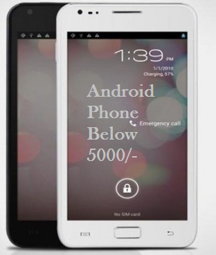 android smartphones in india below 5000 options include Bluetooth