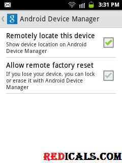 android device settings