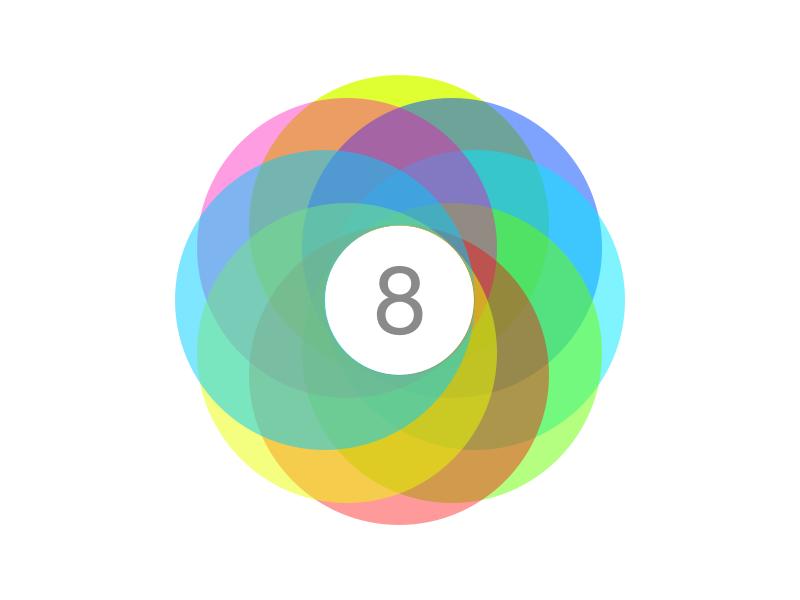 iOS 8 concept logo