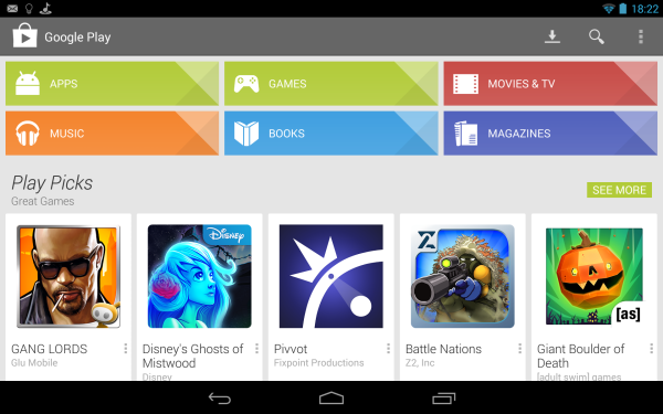 genymotion Nexus android