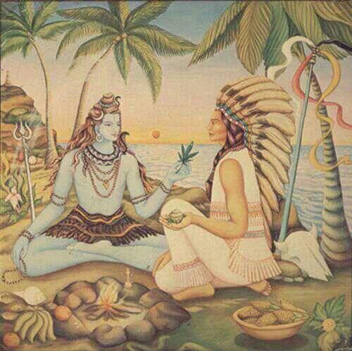Lord Shiva smoke