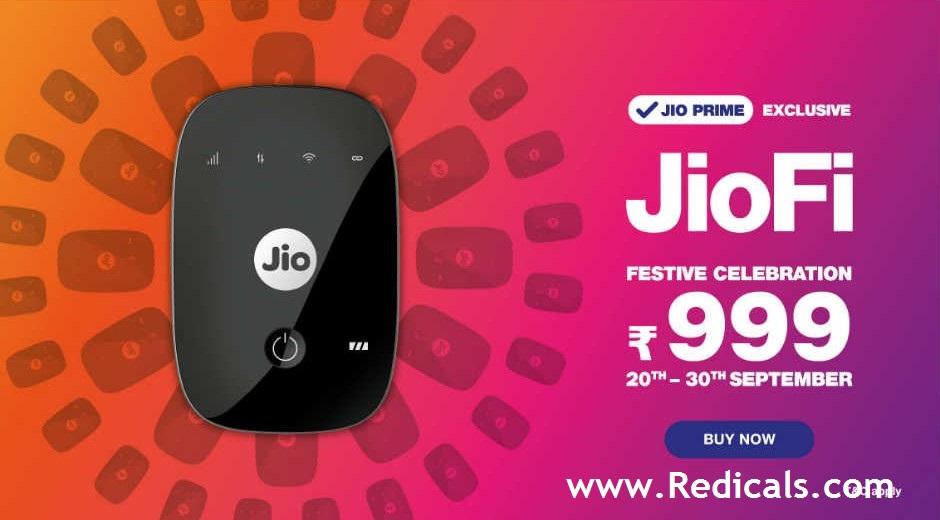 JioFi 999 Offer