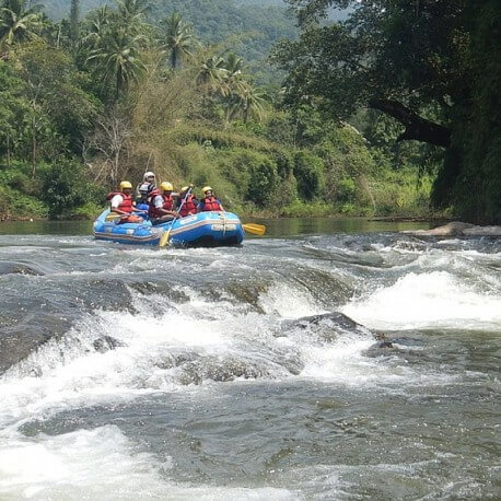 Bhadra river rafting Chikmagalur