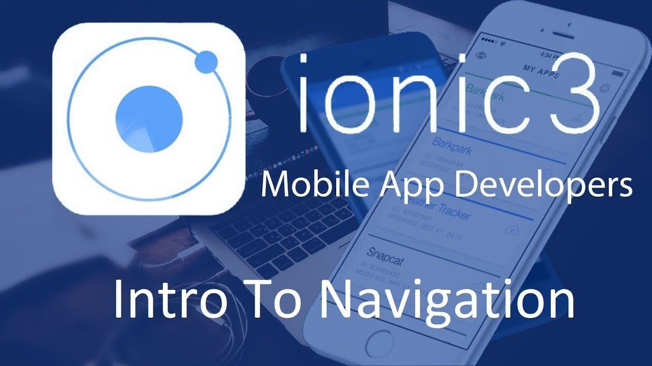 Ionic3 Navigation