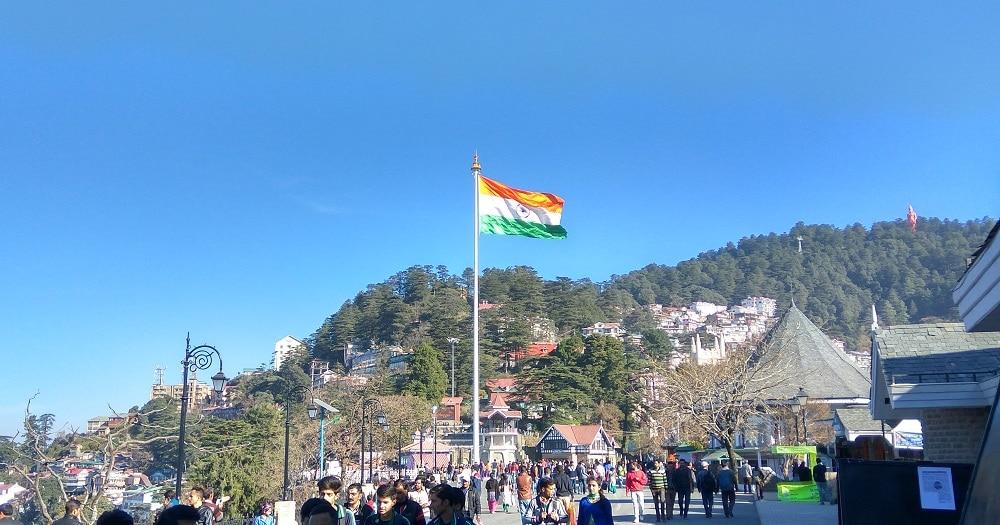 Monumental national flag Shimla